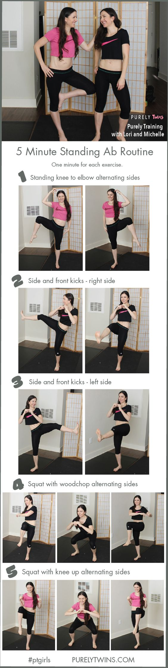 Standing abs workout, Watches and Mom on Pinterest