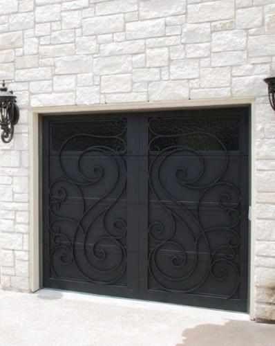 Garage doors wind 78 wrought iron doors windows gates for Wind code garage doors