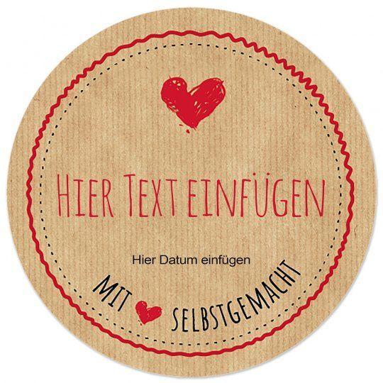 Gratis Vorlage Rundes Etikett Mit Liebe Selbstgemacht Runde Etiketten Marmeladenetiketten Etiketten Gestalten
