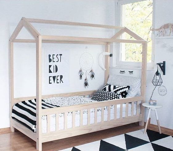 15 Irresistible Child's Bed Designs In The Form Of House | Bed design,  House and Room