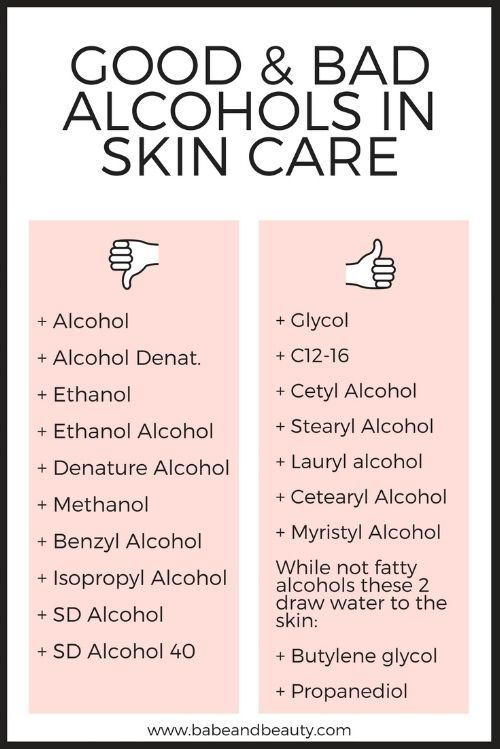 Alcohol In Skin Care In 2020 With Images Skin Care Skin Care