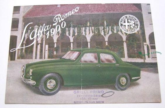 Alfa Romeo 1900 sedan - brochure