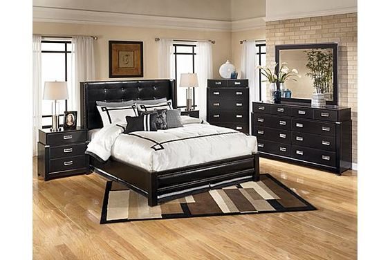 The Diana Platform Bedroom Set From Ashley Furniture Homestore The Rich Espresso