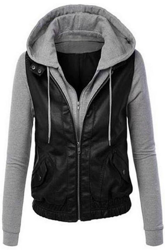 20% Off! Free shipping & Easy Return + Refund! Grab this chance and take this A Hike Hooded PU Jacket detailed with side pockets & double collars. Find more at Cupshe.com