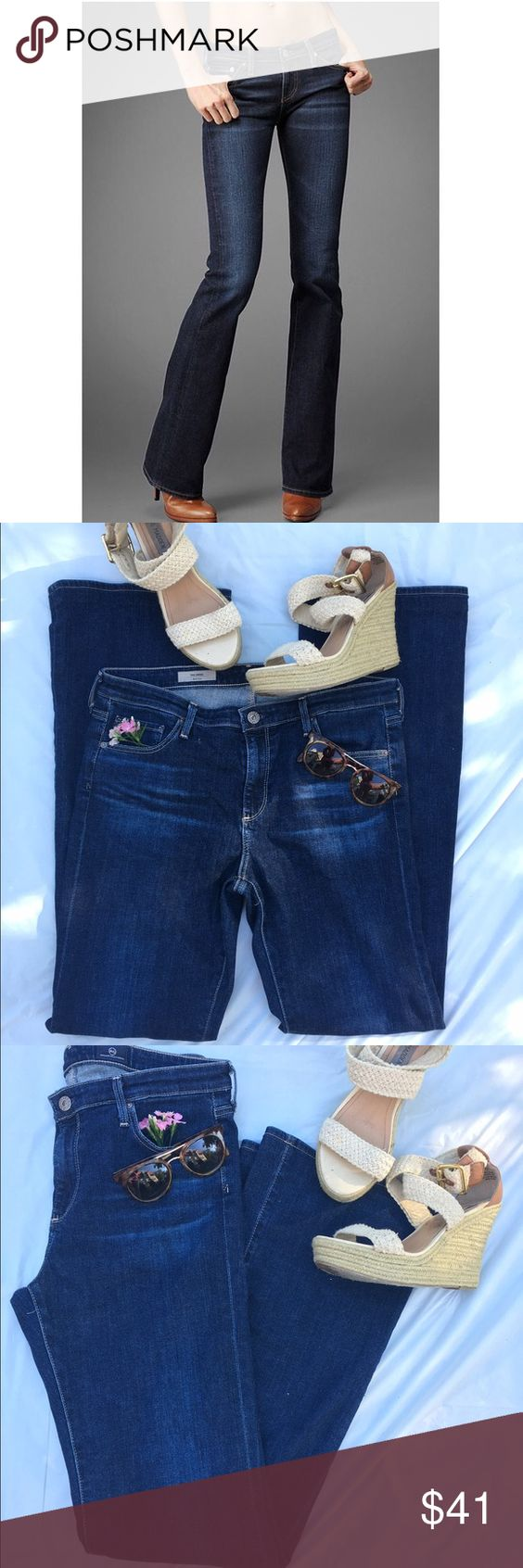 """AG Adriano Goldschmied """"The Angel"""" bootcut jeans Really great pre-loved condition! 70% cotton, 28% lyocell, 2% polyurethane. 8.5"""" front rise, 32"""" inseam. Super cute with wedges! ✅offers❌trades/PPsave 20% off 2+ AG Adriano Goldschmied Jeans Boot Cut"""