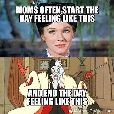 From Mary Poppins to Cruella- all in a day! Lol!: