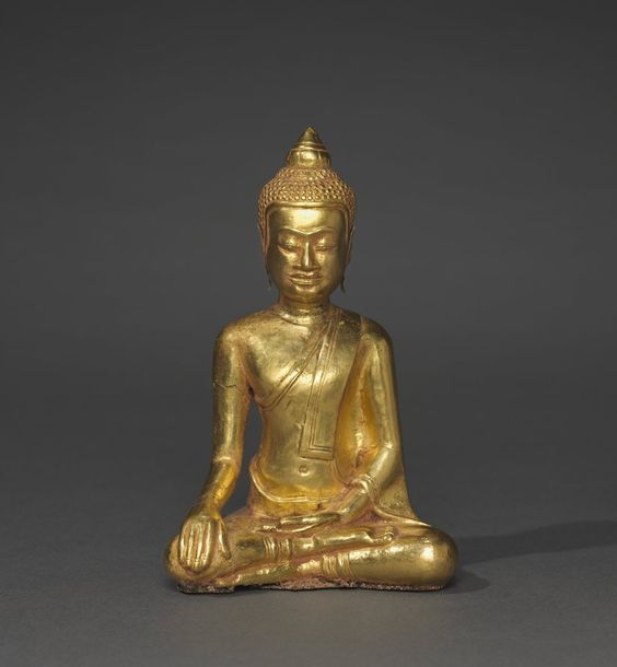 Thailand, Ayutthaya, Wat Ratchaburana, 14th century, gold with resin core, Overall: h. 10.60 cm (4 1/8 inches). John L. Severance Fund 1999.316