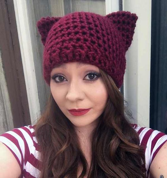 6 Adorable And Free Crochet Patterns For Cat Hats With Ears Knit And Crochet Daily Crochet Cat Hat Crochet Hats Crochet Patterns For Cats