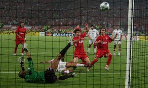 Having seen his penalty saved, Alonso scores the rebound to bring Liverpool…