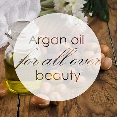 Using pure argan oil on your skin.