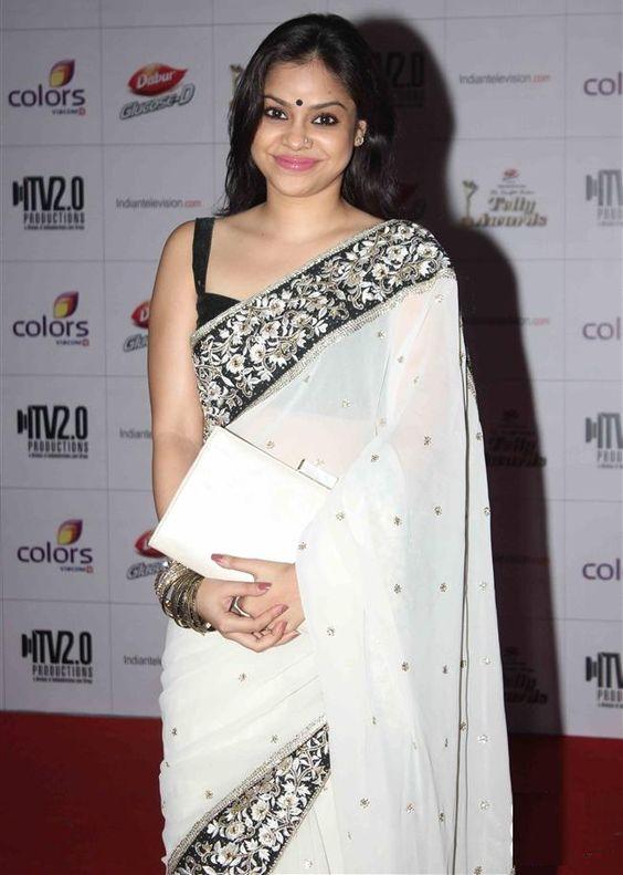 Sumona Chakravarti # White Saree # Beautiful As Ever #