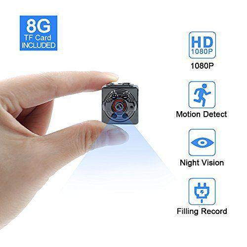 Neuer Artikel Eur 32 99 Mini Kamera Tangmi 1080p 8gb Surveillance Kamera Full Hd Tragbare Kleine Nanny Cam Mit Nachtsichtgerat Fur Zuha Dv Camera Motion Camera