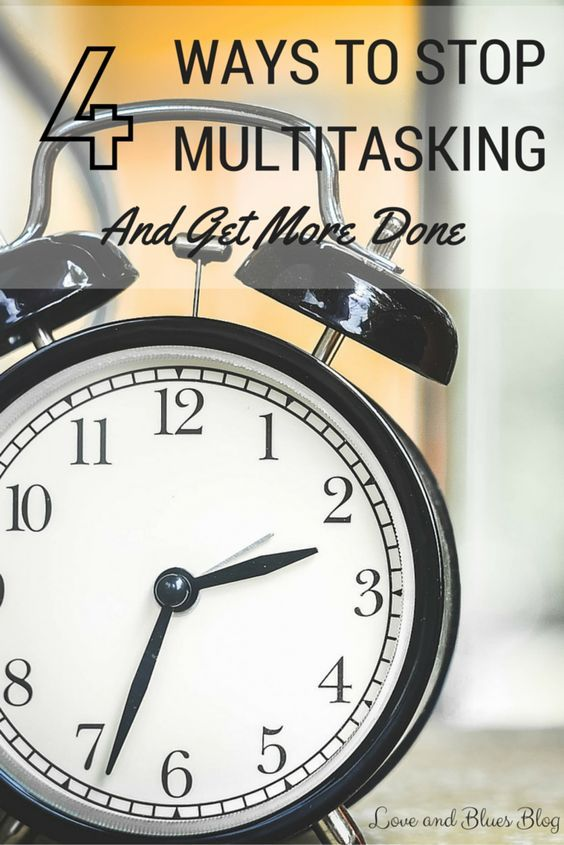 Multitasking is the worst way to accomplish all your tasks each day. Here are some simple steps to get out of the habit!