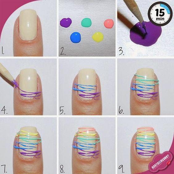 Colorful Sugar Spun Nail Art Tutorial ~ Entertainment News, Photos & Videos - Calgary, Edmonton, Toronto, Canada