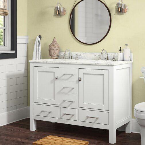 Furlow 48 Double Bathroom Vanity Set 48 Inch Bathroom Vanity Double Vanity Bathroom Bathroom Vanity