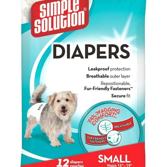 Simple Solution Disposable Dog Diapers Fit Male And Female Dogs And Are Ideal For Female Dogs In Heat Dogs Wi Dog Diapers Female Dog Diapers Disposable Diapers