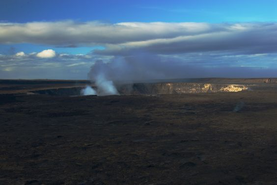 The active crater on the Big Island in Hawaii.