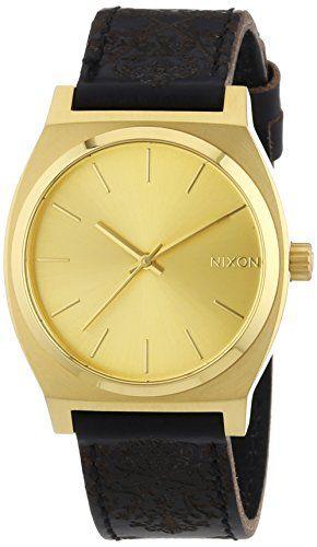 Nixon Herren-Armbanduhr Time Teller Gold/Ornate Analog Quarz Leder A0451882-00 - http://uhr.haus/nixon/nixon-herren-armbanduhr-time-teller-gold-ornate