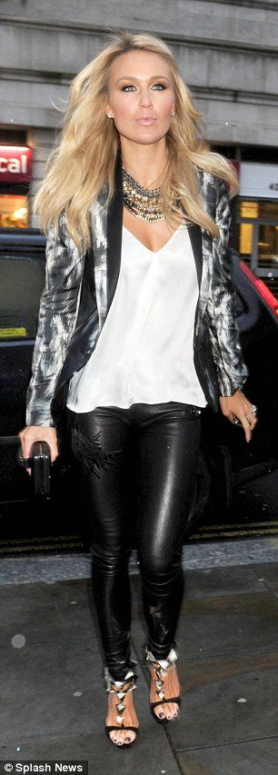 Footballer WAG Alex Curran, the wife of Liverpool FC captain Steven Gerrard, on a WAG's night out in Liverpool at the San Carlo restaurant with Sheree Murphy.