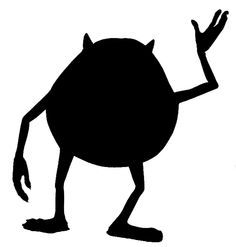 disney monsters inc silhouettes - Google Search