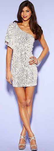 Collection White Sequin Party Dress Pictures - Reikian