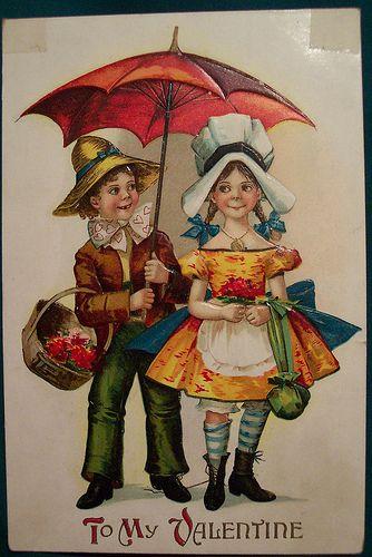 Niños con parguas (Rusia)