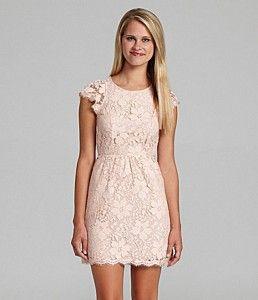 Bcbg max azria pink lace dress - Lace dress style