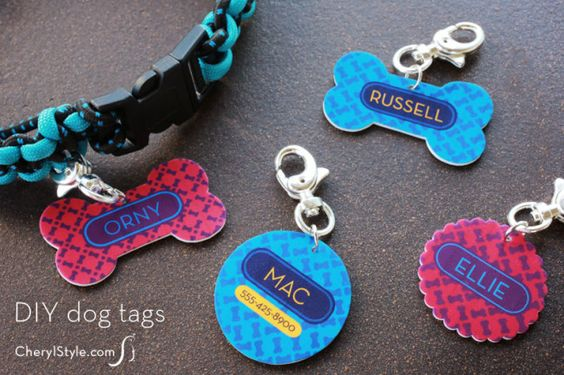 DIY Shrinky Dinks dog tags with printable