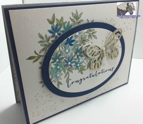 Stampin' Up! new Awesomely Artistic stamp set and the new Watercolor Wings Stamp and Thinlits bundle!