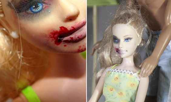 Barbie given black eyes, split lips and bruises for new exhibition