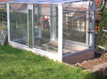 Gewächshaus Neubau Bauanleitung zum selber bauen