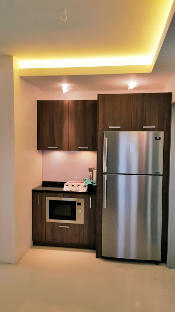 Modular kitchen cabinets with built in microwave oven and for Built in kitchen cabinets philippines