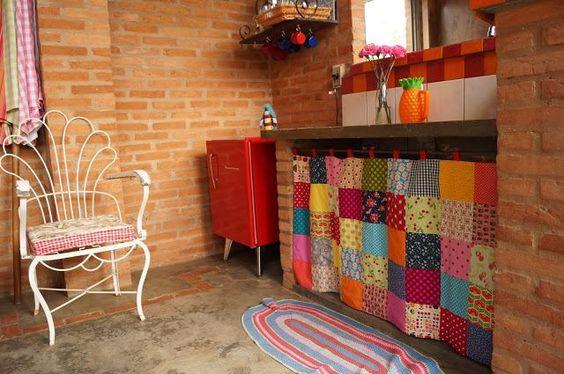 cortina pra pia da cozinha: