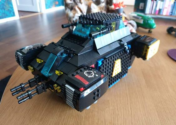 The Armoury: WIP, Blacktron dropship, by Cakeman