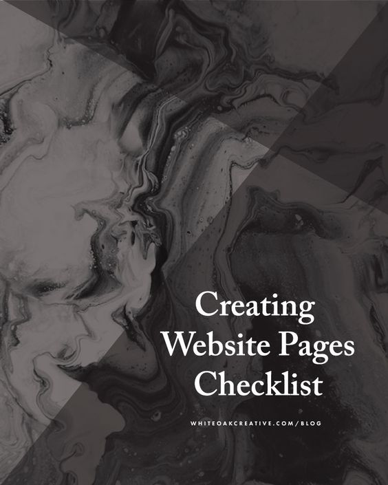 Creating Website Pages Checklist  Semplice Beautiful E Creativo