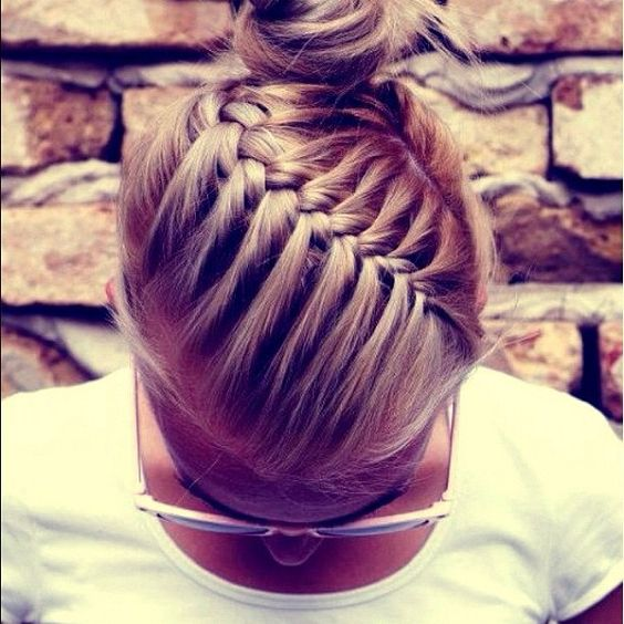 Awesome hair for sports! I'd do a ponytail tho a bun usually falls out if you do a lot of running.