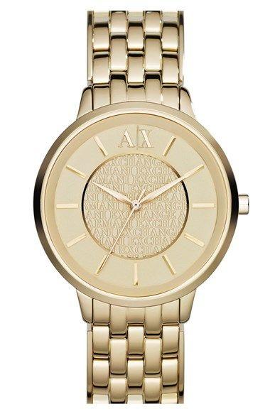 AX Armani Exchange Round Bracelet Watch, 38mm | Nordstrom