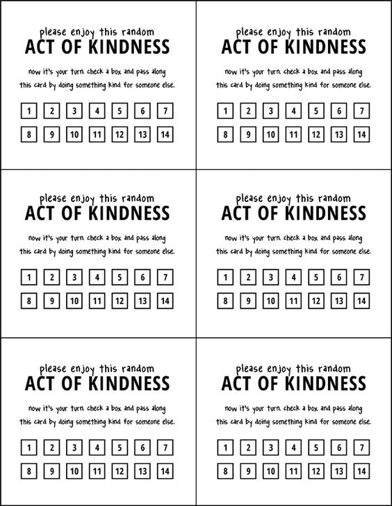 random acts of kindness cards pdf