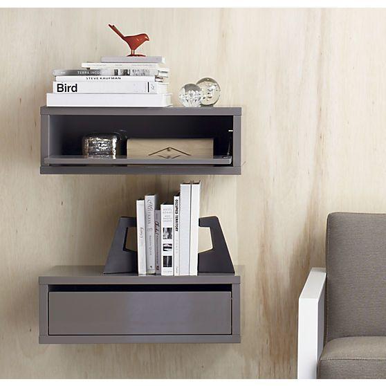 Nice Slice Grey Wall Mounted Storage Shelf | Wall Mounted Storage Shelves, Storage  Shelves And Wall Mount