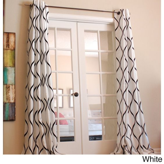 This beautifully designed polyester faux silk window panel will bring any room in your house to life. With its graphic flock wave-like pattern, this elegant window panel adds a nice touch of sophistication and style to anyones home.
