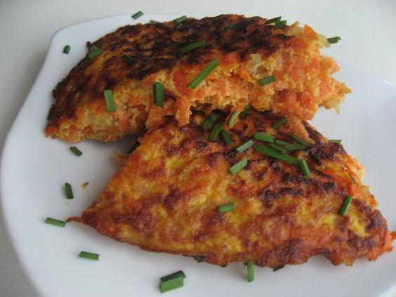 Tortilla de zanahoria fácil (carrot tortilla)