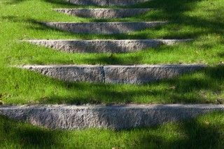steps. Reclaimed granite. Why not use reclaimed cement?