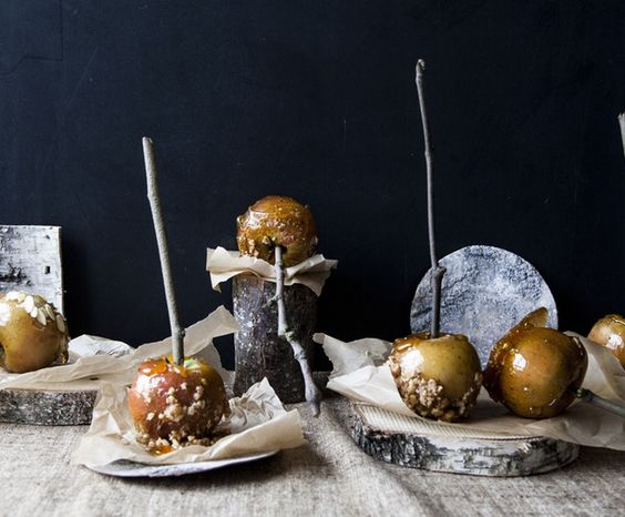 Toffee Apples (gluten free, dairy free, vegan, vegetarian) Nothing beats the joy of biting through a layer of sweet caramel into a juicy, crisp Egremont Russet apple. If you've never dared to dip your own toffee apples before then now's the time (it's easy, we promise!) http://po.st/pY9JW4