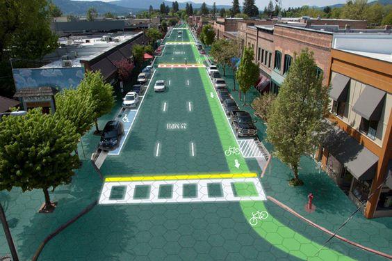 Ruas fotovoltaicas.