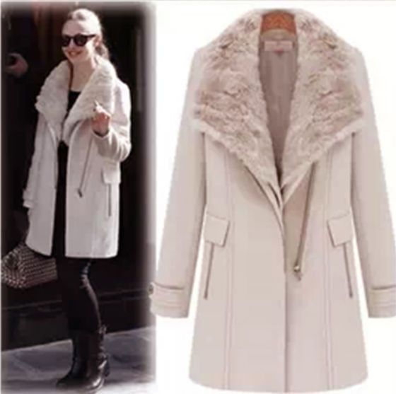 New Women's Winter warm Wool Fur Collar Thick 2in1 parka jacket Coat Overcoat #OTHER #Parka