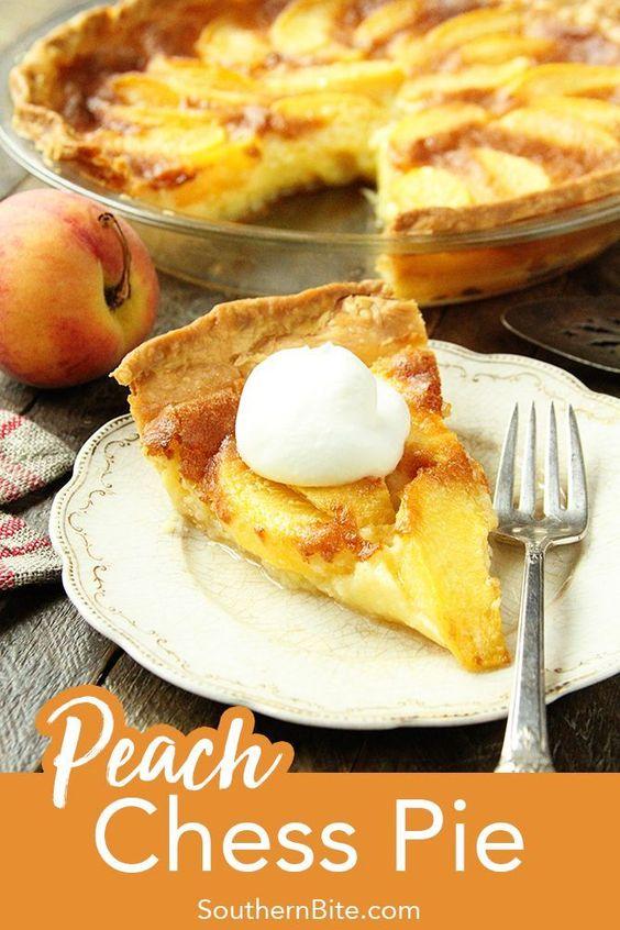 Peach Chess Pie