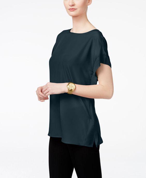 Michael Michael Kors Short-Sleeve Poncho Top