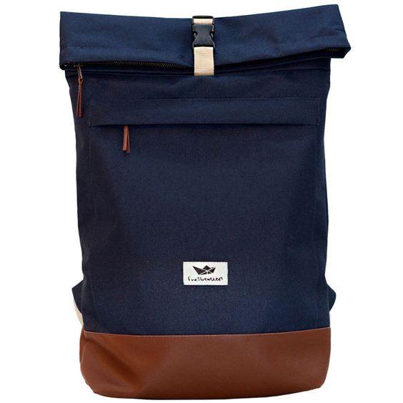 details zu freibeutler courier bag blue kurier rucksack rolltop backpack hamburg rucks cke. Black Bedroom Furniture Sets. Home Design Ideas