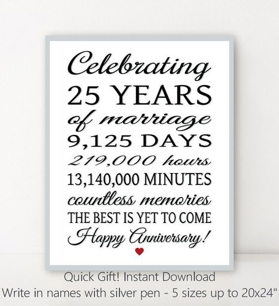 25 Year Anniversary Diy Personalized Sign Editable Etsy Anniversary Sign Happy 25th Anniversary 25th Anniversary Gifts