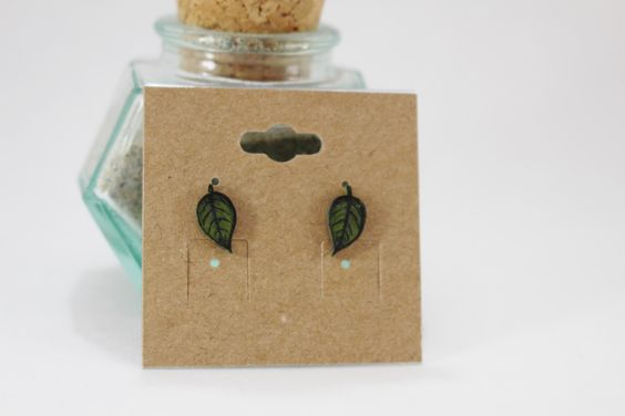 Deep Green Leaf Stud Earrings(Hand-drawn and Hand-painted) by AmandalaSunshine on Etsy https://www.etsy.com/listing/385706556/deep-green-leaf-stud-earringshand-drawn